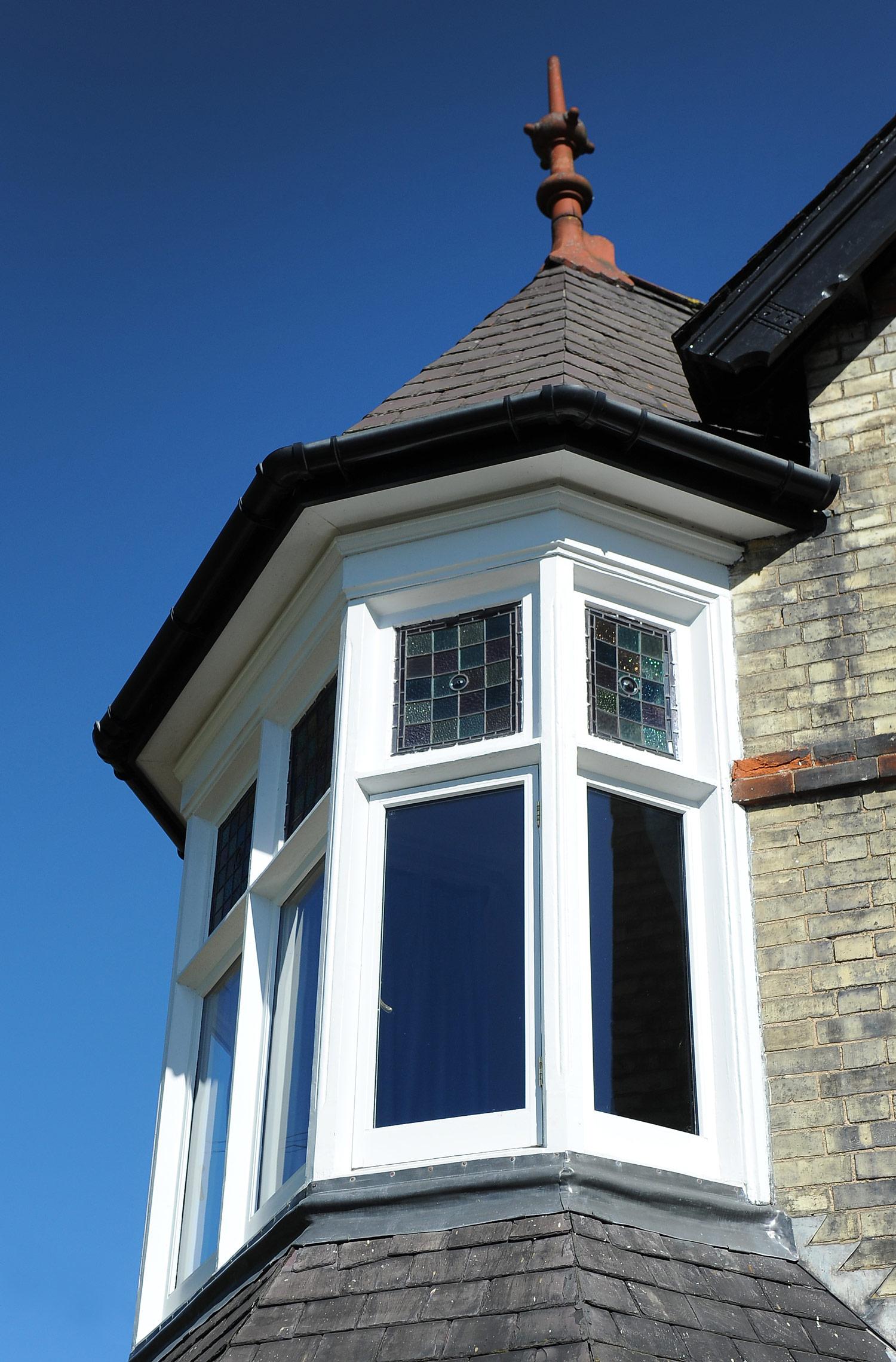 Victorian villa renovation exterior detail