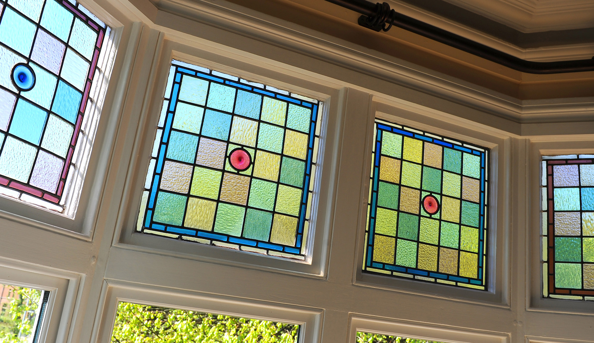 Victorian villa renovation stained glass restoration